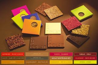 Chocolat avec fruits croquants